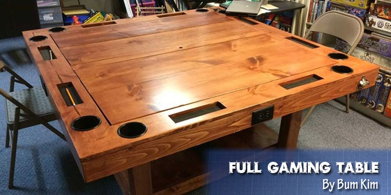 Coolest DIY Gaming Tables Webb Pickersgill Beauteous Wooden Gaming Table