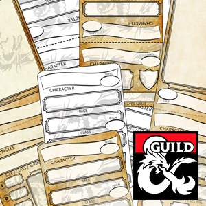 photo about Printable Monster Cards 5e titled Dungeon Study - Personality Monster Tents - Webb Pickersgill