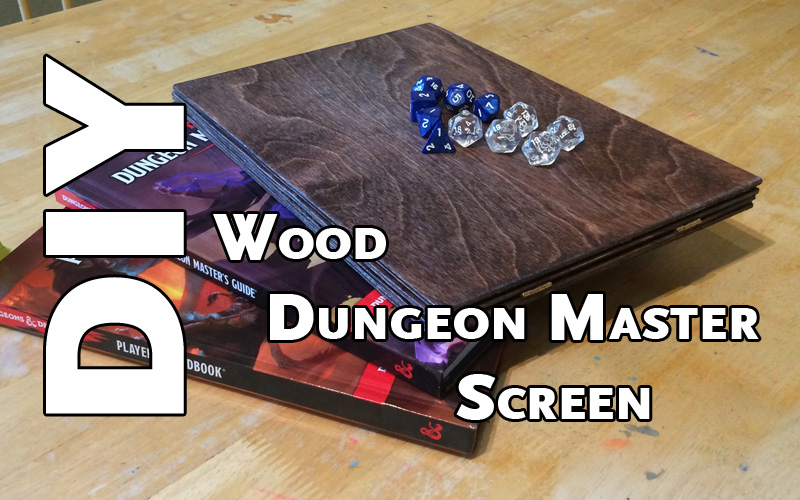 DIY Wood Dungeon Master Screen