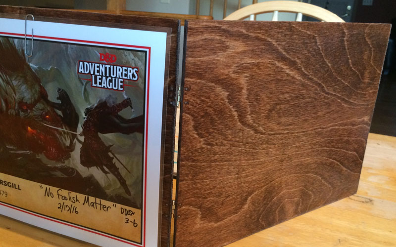DIY Wood Dungeon Master Screen - Webb Pickersgill