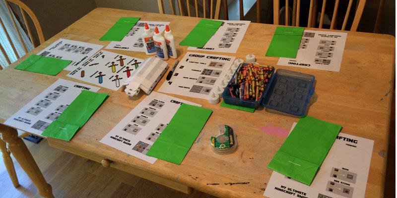 Throwing a minecraft birthday party webb pickersgill minecraft crafting table solutioingenieria Choice Image