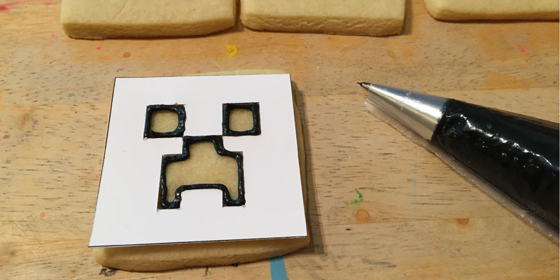 Minecraft Cookies - Creeper Face
