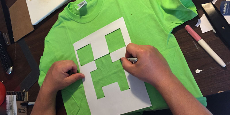 Minecraft Creeper Shirt Template